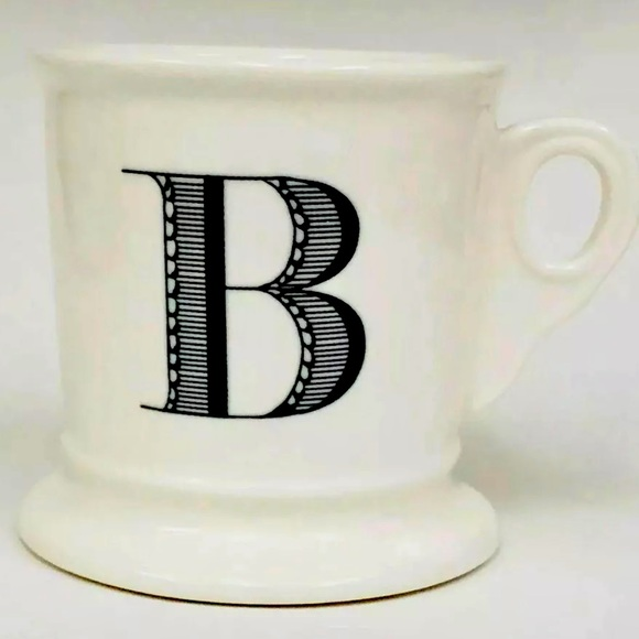 Anthropologie Initial B Shaving Mug Coffee Cup